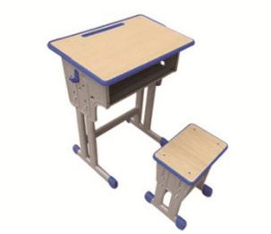 双柱升降课桌凳