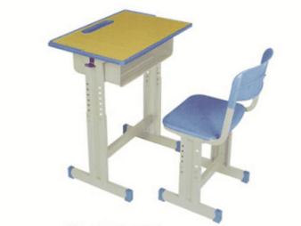 单人可拆装升降课桌椅