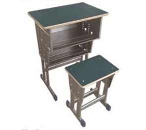 双层双柱课桌凳
