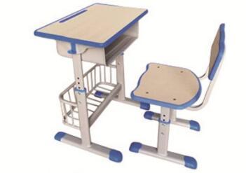 套管注塑封边带篮课桌椅