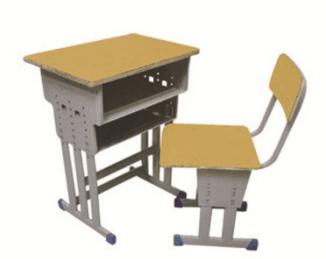 多柱升降课桌椅
