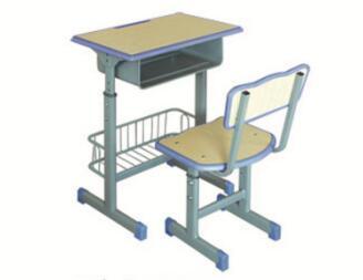 注塑封边套管升降带篮课桌椅