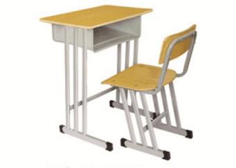 单人三柱课桌椅