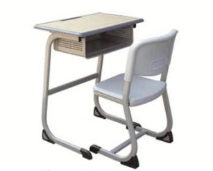 C型固定课桌椅