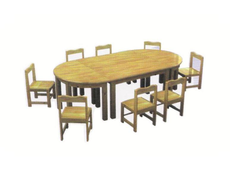 樟子松八人桌-BS-YR102