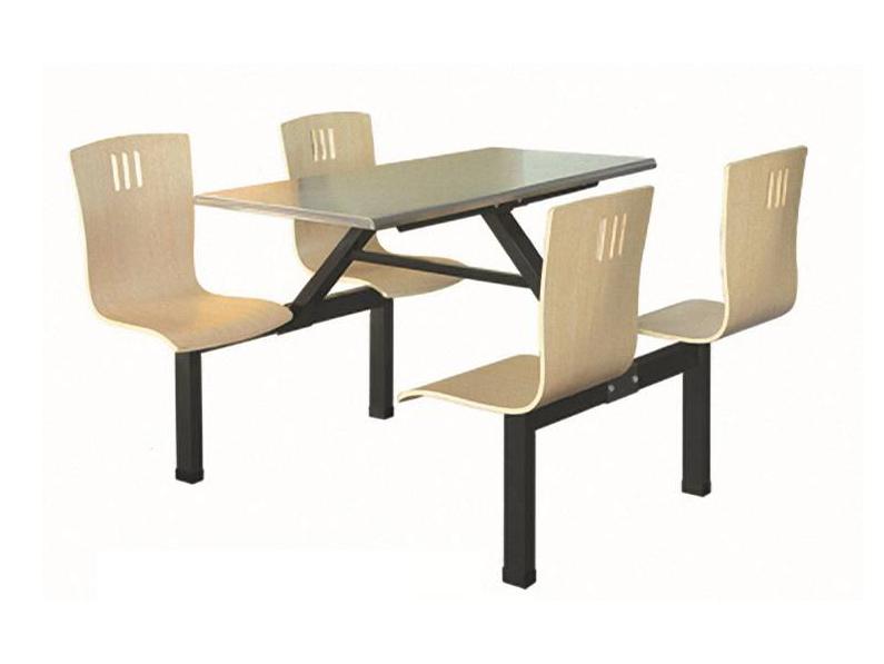 四位曲木椅方管餐桌-BS-CZ102