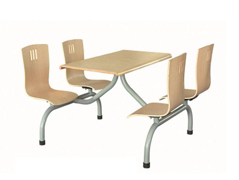 四位曲木椅圆管餐桌-BS-CZ101