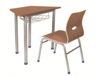 可拼接六角型课桌椅