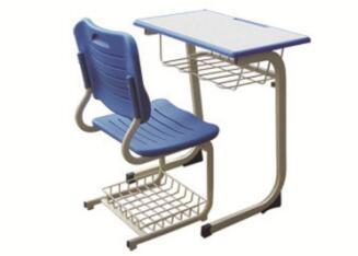 带篮固定课桌椅
